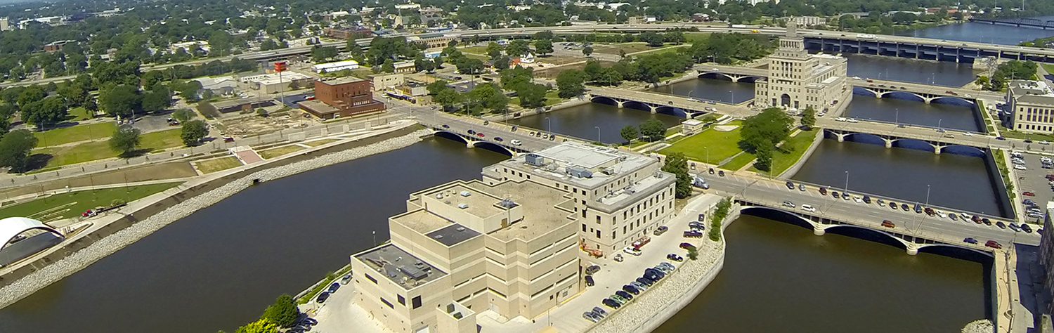 Mays Island, Downtown Cedar Rapids Iowa